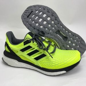 Adidas Mens Energy Boost Running Yellow Black Sz 9